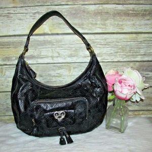 Antonio Melani Black Quilted Leather Purse Bag